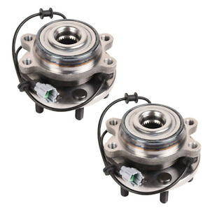 2pcs x Front Wheel Bearing Hubs for Nissan Navara D40 D22 YD25 VQ40 R51 05-12
