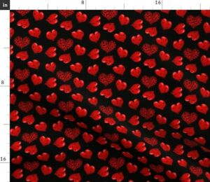Red Hearts Love Valentine Leopard Matching Spoonflower Fabric by the Yard