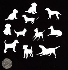 "Dog Die Cuts - Set of 22 Mini Dog Die Cuts -  1"" to 2"" sizes - You Choose Color"