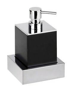Brillantbad MAX Seifenspender schwarz  75 x 160 x 86 Chrome Polyresin