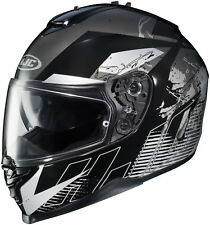 HJC IS-17 Full Face Motorcycle Helmet Blur Graphic Black Size XXL