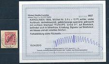 Karolinen 10 Pf. Adler 1900 bessere Farbe Michel 3 II c Befund (S12734)