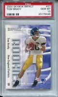 2000 Skybox Impact Football #27 Tom Brady Rookie Card RC Graded PSA Gem Mint 10