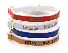 Personalized Custom Cat Kitten Collar   Design Your Unique Pet ID Tag   Engraved