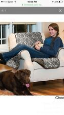 Luxe Home Armchair Furniture Protector Brown Reversible Slipcover Chocolate