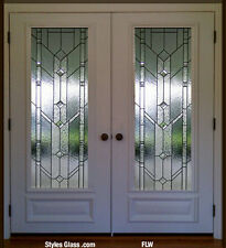 "Stain Glass Pocket or french interior doors  36"" x 84"" free shipping"
