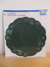 "NEW Hallmark St Patrick's Day Clover 6"" French Lace Doilies Set of 4"