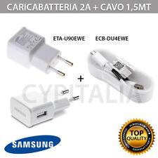 Carica Batteria Samsung 2A ETA90 + Cavo ORIGINALE  per S3 S4 S5 S6 Note 2 3 Bulk