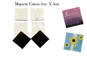 5CM X 5CM PACK WHITE STRETCHED MINI FRAMED CANVAS/ MAGNETIC CANVAS BLANK ARTIST