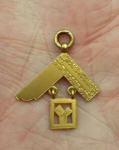 SUPERB Rare  9ct GOLD  Vintage PAST MASTER  Masonic Albert Watch Chain FOB Vgc