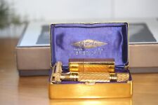 Gillette Vintage  Aristocrat Gold Plated  Razor with Blade Holder in Gold Box