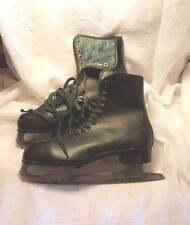 Vintage pair of Men's Canadian Royal Ice Skates, Black , made in Canada