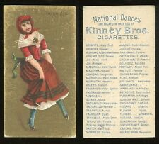 "1889 N225 Kinney National Dances (NO Border) ""Irish Jig"" VG-EX **AA-7959**"