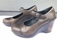 Dansko Fanny Women's Slate Mary Jane Wedge Studded Sandals US 9.5-10 / EU 40