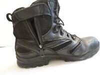 Thorogood Waterproof Safety Toe Side zip Boots size 12 Black
