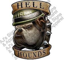 "USMC Hell Hounds 5"" Vinyl Car Laptop or Window Sticker Decal 5"""