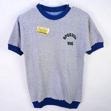 Vintage 60s Short Sleeve Sweatshirt Fleece T-Shirt S Souvenir Spooner Wisconsin