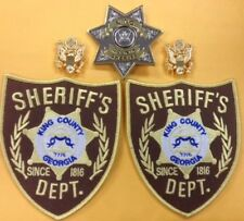 THE WALKING DEAD SHERIFF COSPLAY PATCH & PIN DELUXE SET OF (5) PIECES