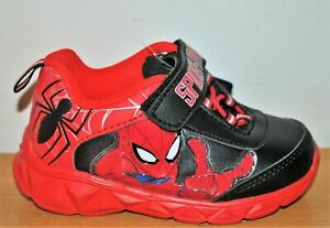 Marvel Spider-Man Boys' Red Light-Up Sneakers - Size 7 Toddler