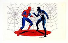"Comic Book Heroes ""Spiderman"" Copy 1984 Free Hand Art, From  Artist A. Thibert"