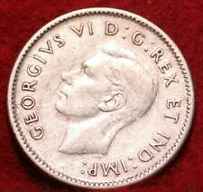 1943 Canada 10 Cents Silver Foreign Coin