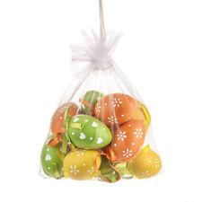Da appendere Uova di Pasqua 6 cm verde, arancione e giallo Borsa di 12