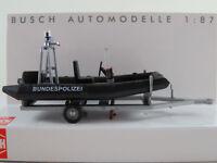 """Busch 59952 Anhänger mit DSB 5.1SR-Motorboot """"Bundespolizei"""" 1:87/H0 NEU/OVP"""