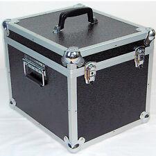 """1 X NEO Aluminium Black Storage DJ Case for 100 Vinyl LP Records 12"""""""