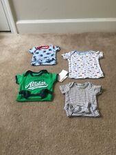 Newborn Baby Boys 4 Pc Lot Shirt Sz 4T Snap Crotch Shirts MultiColor Sz Nb