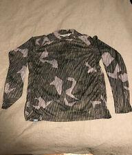 SIMMS SolarFlex LS Crewneck Fishing Shirt Prints Camo Storm Men's MED M