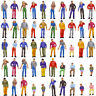 P50W 50pcs Model Trains 1:48 Painted Figures O SCALE People Standing Seated