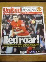 12/01/2008 Manchester United v Newcastle United  . Thanks for viewing our item,