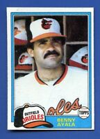 1981 Topps # 101 Benny Ayala  Baltimore Orioles  NM+  additional ship free