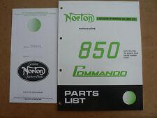 NORTON COMMANDO 850 PARTS BOOK