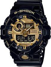 NEW CASIO G-SHOCK GA710GB-1A BLACK/GOLD MENS ANA-DIGI WATCH NWT!!!
