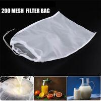 Wine Strainer Colander Coffee Filter Cheese cloth Nylon Fine Mesh Nut Milk Bag