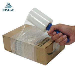 "2 Pack of Ultra Strength Mini Stretch Wrap Film 80 Gauge, 4"" width x 500 ft long"
