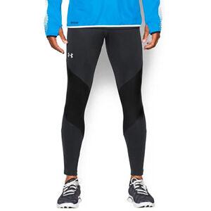 Under Armour UA Run Gore Windstopper Mens Black Training Compression Leggings L