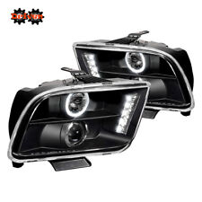 05-09 Ford Mustang Black Projector Headlights LED DRL Convertible GT Cobra SVT