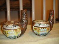 Vintage Vinicola Boccaccio Italy Decanter Ashtray Florence 1968 Pair Pottery