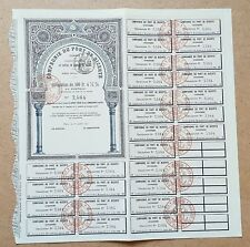 Tunisie Epoque Coloniale - Rare Obligation de 500 F Cie Port de Bizerte - 1912