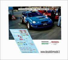 DECALS 1/24 TOYOTA CELICA GT 4 TOHT RALLY SANREMO 1996