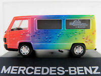 "Herpa/MB Mercedes-Benz 100 D Bus (1988) ""Regenbogen / MB München"" 1:87/H0 NEU/PC"