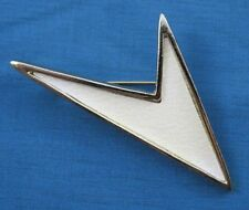 VINTAGE EMMONS BROOCH, WITH STAR TREK MODERNIST THEME, FAUX STINGRAY, GOLD TONE