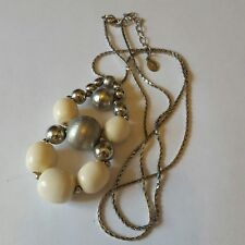 A lovely silver tone necklace by Accessorize with beaded pendant.