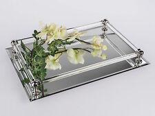 Spiegeltablett sehr edel mit Facettenschliff 37cm x 25cm  von FORMANO 889416