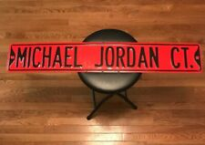 "MICHAEL JORDAN CT. METAL STREET SIGN 6X36"" MAN CAVE OR BAR"