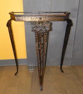 Antique Victorian Verona Cast Iron Parlor Foyer Stand Table Art Nouveau Deco