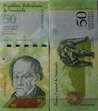 """BILLETE """"  VENEZUELA   """"  50  BOLIVARES    AÑO : 2015   UNC    PLANCHA"""