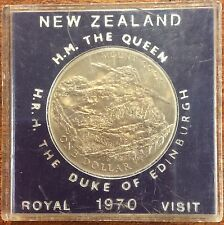 1970  New Zealand Cased large dollar Mount Cook